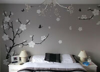 Large Plum Blossom Flower Tree Wall Stickers, Wall Art, Wall Decals