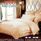 1200TC Egyptian Cotton Quilt/Doona/Duvet Cover Set in Mocha Taupe- Double