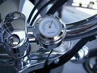 7/8'' MOTORCYCLE HANDLEBAR THERMOMETER - WATERPROOF - WHITE DIAL