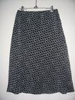 New TALBOTS 8 Silk Black/White Geometric Print A Line Lined Skirt
