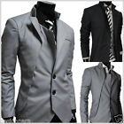 THELEES (NJK) Mens unbalance 2 button china collar jacket 3 COLOR