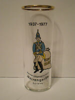 VINTAGE CARNIVAL OF FOOLS GUARD COMPANY GERMAN BEER GLASS / .2L GERMANY