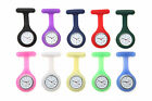 Nurse Fob Watch, Gel Silicone Rubber, Washable Hygienic, Pin-On FREE UK DELIVERY