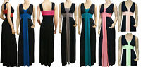 Grecian Style Evening Maxi Dress UK Size 8-22 (LR1050) Available In 4 Lengths
