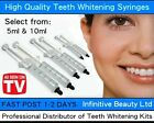 Teeth Whitening Syringe Gel Refill Bleach Kit Bleaching Tooth Whitener 5ml 10ml