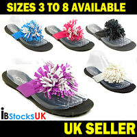 Ladies Womens Toe Post Sandals Flat Beach Summer Shoes Size 4 5 6 7 8 (king)