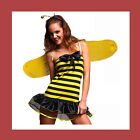Ladies Bumble Bee Lady Bug Fancy Dress Costume All Sizes