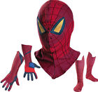 Amazing Spider Man 2012 Movie Adult Spandex Mask / Deluxe Gloves / Boot Covers