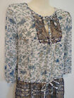 Size 8 ~ EXPRESSION ~ Sheer Print 3/4 Sleeved Top ~ AS NEW Condition!