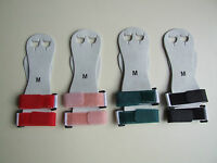 GYMNASTIC PALM GUARD GRIPS SOFT LEATHER VELCRO WRIST STRAP BARS HAND PROTECTOR