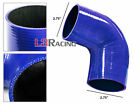 "BLUE Elbow 2.75"" 70mm 4ply Silicone Coupler Hose Turbo Intake Intercooler Ponti"