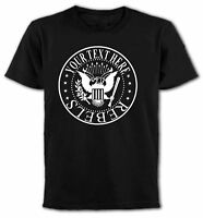 """Custom """"Your Text"""" Rock'n'Roll T-Shirt, Your Names, All Sizes & Colours"""