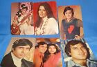 6 Old Vintage Picture Cards Calendars from Bollywood India 1975 Very Rare