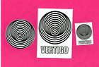 VERTIGO RECORDS POSTCARD, BADGE & STICKERS.