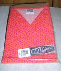 Print Scrub Top Orange & Pink Circles on Pink bg by Scrub zone