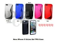 NEW STYLISH S LINE GRIP SERIES GEL CASE COVER FITS IPHONE 5