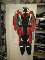 Corner Leathers in Red/Grey/White Motorcycle Leathers/Wear