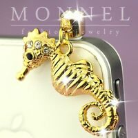 ip559 Cute Sea Horse Anti Dust  Plug Cover  Charm For iPhone 4 4S Galaxy
