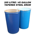 205 LITRE/45 GAL TAPERED STEEL DRUM/BARREL/CONTAINER FOR SHIPPING/WASTE/FEED/BIN