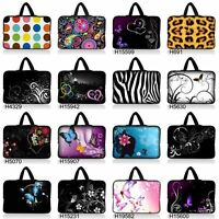 """Colorful 11.6"""" 12"""" Laptop Netbook Notebook Sleeve Bag Tablet Case Cover +Handle"""