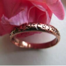 Solid Copper Floral Ring 019 Available in sizes 5 to 13