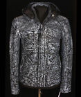 Ghost Protocol Mission Impossible Blue Men's Hooded Real Stained Leather Jacket