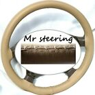 FOR LAND ROVER FREELANDER 2 QUALITY BEIGE ITALIAN LEATHER STEERING WHEEL COVER