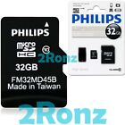 Philips 32GB 32G Micro SDHC TF Memory Card Class 10 C10 w/ SD Adapter+USB Reader