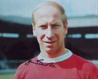 Bobby Charlton Manchester Utd signed Photo 1968 European Cup Winner 66 World Cup