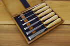 Boxed set of six NAREX 8116 Cabinetmakers Chisels (Natural)