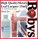 Gold/Silver Leaf High Quality Lacquer/Varnish 15ml Bottle – Ideal for Projects