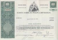 Broker Owned Stock Certificate: Gunther & Co,  payee; No Amer Philips, issuer