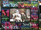 New York City Picture Frame featuring Colored Attractions, 6x4 inch Photos, NYC