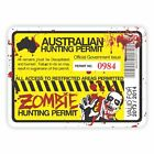 Australian Zombie Hunting Permit Decal Sticker 4x4 Ute Car gun horror dead funny