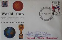 England 1966 World Cup signed FDC cover Jack Charlton PROOF Leeds United Legend