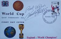 England 1966 World Cup signed FDC cover Norman Hunter PROOF Leeds United Legend