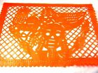 SET OF FIVE(5) DAY OF THE DEAD THEME MEXICAN PAPEL PICADO BANNERS BUNTING PAPER