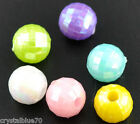 Acrylic Faceted Spacer Beads 6x6mm Mixed Colours - Qty's 100 - 200 - 300 - 400