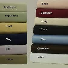 SUPER DEEP POCKET EGYPTIAN COTTON BED SHEET SET 6PC MADE IN INDIA MAKE UR CHOICE