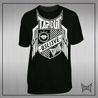 tapout defender t shirt black / white ufc mma tee fightwear