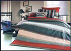 New Cotton Long King/Queen Quilt Cover Set 210 x 240cm, Stripe Postage Free