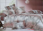 Cotton Long King/Queen Quilt Cover Set 210 x 230cm Curves New Postage Free