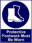 DANGER WARNING SAFETY SIGNS PROTECTIVE FOOTWARE SIGN