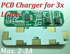 PCB Charger for 3 Packs 3.7V Li-ion Li Lithium 18650 Battery Rechargeable 2-3A
