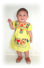 PUEBLA Dress Mexico Baby Toddler Infant Child Costume PRECIOUS 5 Colors - SIZE 2