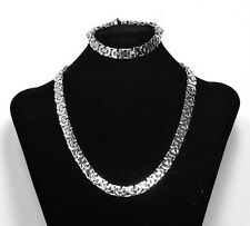 """1 Day Ship 8""""-36"""" High Polished Mens Stainless Steel Necklace Chain or Bracelet"""