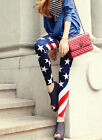 Red White Blue American Flag Leggins Tights Jeppings New Style 79027