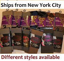 Steve Madden & other brand lady tights socks leggin xmas footed footless NY lot
