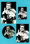 JOHNNY CASH POSTCARD, BADGE & STICKERS.