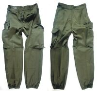 FRENCH ARMY SURPLUS CARGO COMBAT TROUSERS GREEN OLIVE